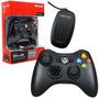 Controle Xbox360 C/ Vermelha S/ Fio Pc Preto Original