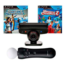 Kit Move Playstation 3 Ps3 Camera + Controle + 2 Jogos