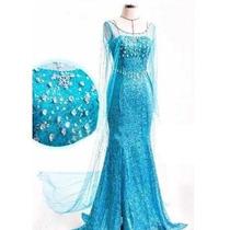 595504ba4d72c0 Busca fantasia princesa Elsa tamanho P adulto com os melhores preços ...