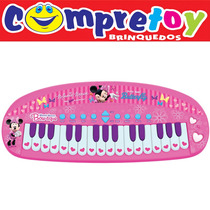 Teclado Minnie Yellow, Feminino , Infantil ,musical, Disney
