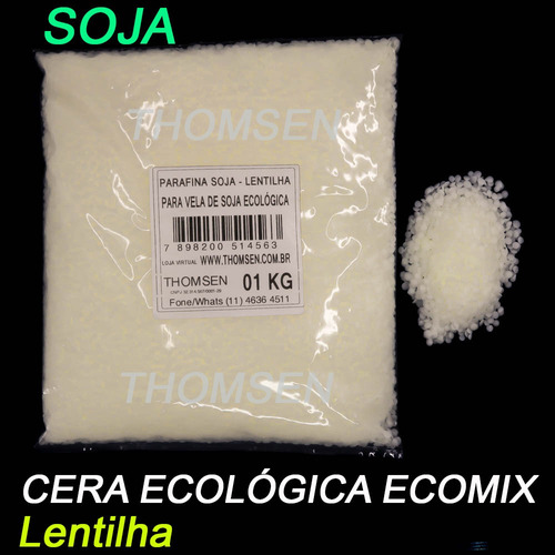 4 Kg - Parafina Soja - Cera Ecologica Lentilha