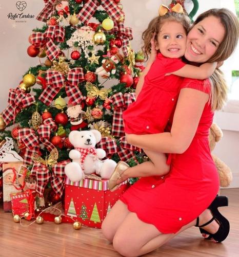 33401518a81575 Kit Vestido Tal Mãe Tal Filha Vermelho Com Perolas à venda em Nova ...