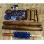 Kit Pedras Quentes P/ Massagem + Kit Bambus +rolo Turbinada
