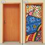 Adesivo Decorativo De Porta - Pintura - 032mlpt