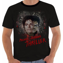 Camiseta Baby Look Regata Michael Jackson 39 Thriller