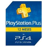 Cartão Psn Playstation Plus 12 Meses 1 Ano Unica Ps4