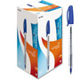 Caneta Esferográfica Kilométrica Paper Azul Cx C/ 50 Unid