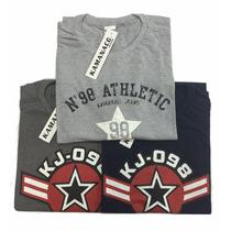 Camiseta Plus Size Estampada Promoção Pague 3 Leve 5 Saldo