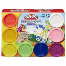 Kit Massinha Modelar 8 Potes Play Doh