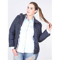 Jaqueta Plus Size Em Nylon Feminina Facinelli - Marinho