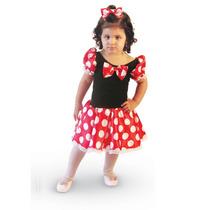 Vestido Infantil Minnie Fantasia Minnie Ratinha Carnaval