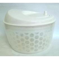 Secador De Salada Centrifuga Plástico Resistente Cor Branco
