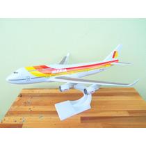 Avião Boeing 747-400 Iberia 38cm Miniatura Maquete