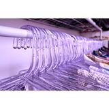 120 Cabides Acrilico Transparente Linha Premium + Brinde