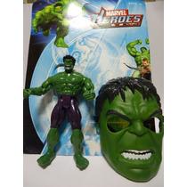 Boneco E Mascara Hulk Marvel Brinquedo Avenger