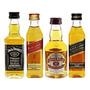 Kit Miniatura Whisky Jack Daniels Red Black Chivas 50ml Original
