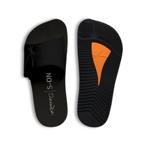 Chinelo Kenner Kivah Original Preto Couro Velcro