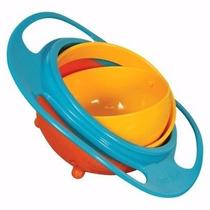 Criança Pratinho Que Não Derrama Gyro Bowl Tigela 360°