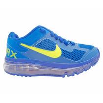 Tênis Infantil Nike Air Max 2013 Azul Marinho E Verde