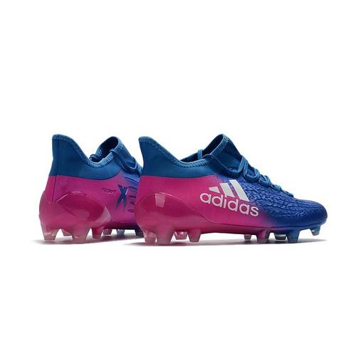 Chuteira Campo adidas X 17.1 Purespeed Rosa Com Azul Neymar 5394809ea9555