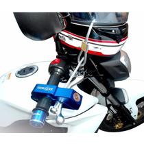 Trava Moto Manete Anti Furto Teck Lock Com Trava De Capacete