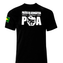 Camiseta Polícia Exército Aeronáutica Segurança Airsoft
