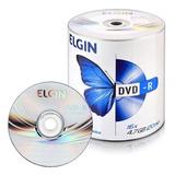 100 Dvd-r Elgin 16x Logo ( Nao Grava Jogos)