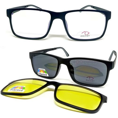 Armação De Óculos P  Grau Clip On 3 Em 1 Polarizado Uva Uvb - R  99 ... 52e92334b8
