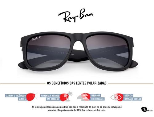 Oculos Ray-ban Rb4165 Justin Polarizado Original C  Garantia. R  179.93 880100f3f6