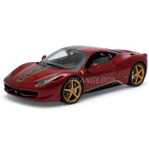 Ferrari 458 Itália China Edition 1:18 Hot Wheels Elite Bck12