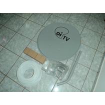 Pac 05 Antenas 60 Cmt Oi Tv Mais Lnbf Simples E Cabos!!!!