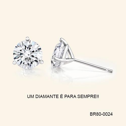 Par De Brincos Solitário Diamantes De 35 Pontos 74188ca137