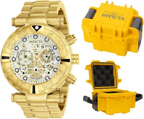 af0414c641c Comprar Relógio Invicta Subaqua 24990 Esqueleto Original B Ouro 18k ...
