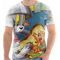 Camiseta Do Tom E Jerry,desenho Animado,estampada 1