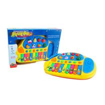 Brinquedo Musical Educativo Tecladinho Nome Das Frutas