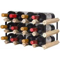 Mini Adega Rack Porta 12 Garrafas De Vinho Madeira Cedrinho