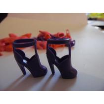 Sapato De Salto Sandália Para Barbie Modelo 10 Roxo Importad