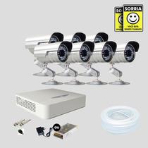 Kit Monitoramento Dvr Stand Alone 8 Canais Jfl 7 Cameras
