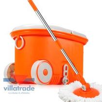 Spin Mop 360 - Balde Mágico Completo Inox - Walkable Mop