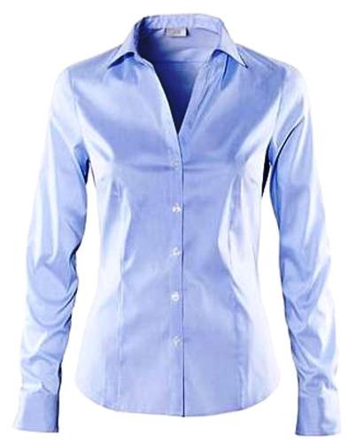 d99af3dbc5 Camisa Social Feminina Manga Longa Tricoline 100% Algodão. Preço  R  49 4  Veja MercadoLibre