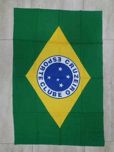65cf45cfe8c80 Minas Gerais. R  60. 2 vendidos. Bandeira Do Cruzeiro Azul Ou Cruzeiro Com  Brasil Promoçao