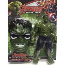 Boneco Hulk Marvel Vingadores 30 Cm + Mascara Super Heróis