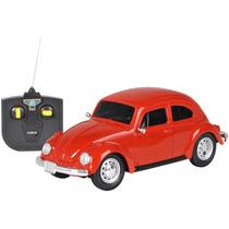 Carro De Controle Remoto Volkswagen Fusca Vermelho 1:24