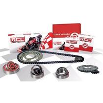 Kit Relação Aço 1045 Com Retentor Rcc - Honda Nxr 150 Bros
