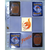 20 Folhas P/ Pasta Fichário Álbum Pokemon + 06 Cartas Brinde