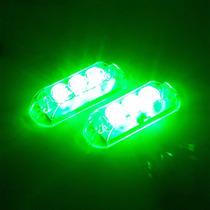Kit Strobo Automotivo Ajk Lps Vittro Led 2 Faróis Verde