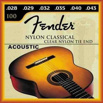 Encordoamento Violão Fender 028 043 Nylon Classical 100