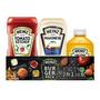 Kit Ketchup 397g + Mostarda 215g + Maionese 255g Heinz Original