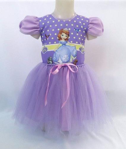 779f7ccbdf Vestido Inf Princesa Sofia Fantasia Bailarina Personalizado à venda ...