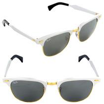 Oculos Ray Ban Clubmaster Aluminium Rb3507 Lente Espelhada